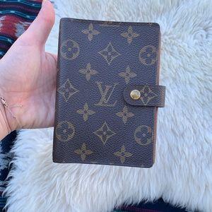 Louis Vuitton monogram PM agenda wallet canvas